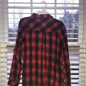 Dresses & Skirts - Red and black flannel dress